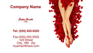 Waxing - Laser & Hair Removal Business Cards Template: 335238