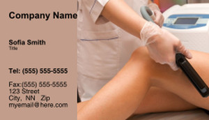 Waxing - Laser & Hair Removal Business Cards Template: 335244