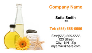 Spa - Skin Care - Products Business Cards Template: 310023