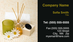 Spa - Skin Care - Products Business Cards Template: 310025