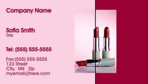 Button to customize design Cosmetics Business Cards Template: 332477