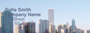 Button to customize design All City Panorama Return Address Labels Template: 333954
