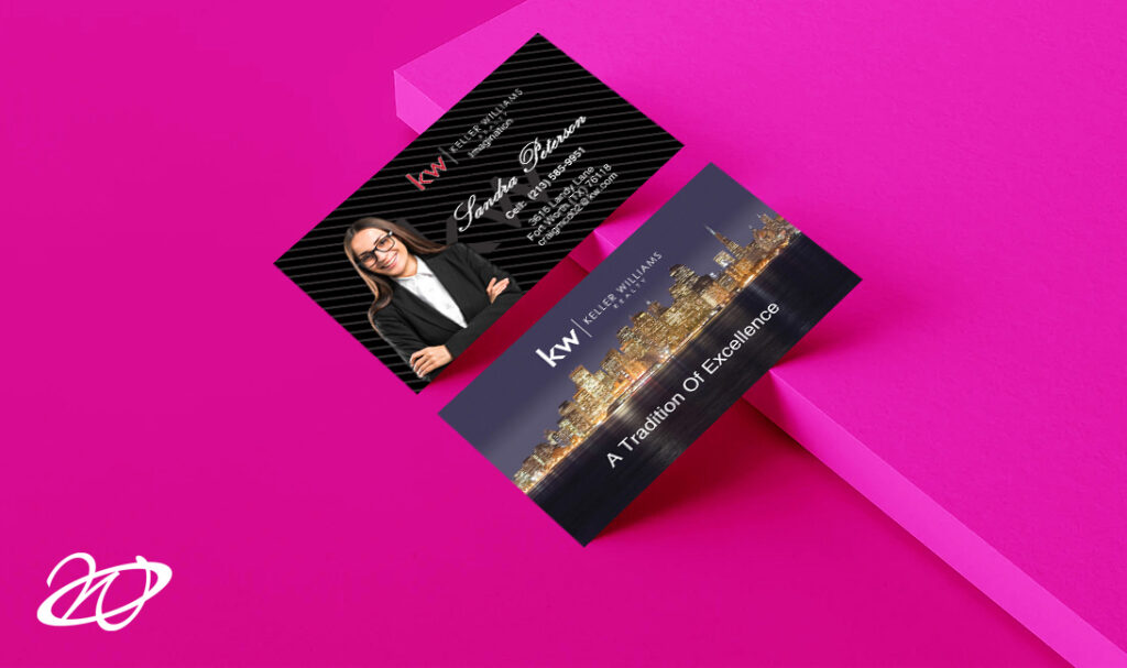Modern and Unique Keller Williams Business Cards Designs
