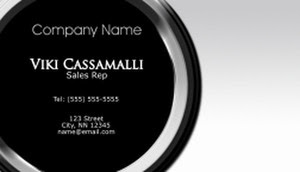 Basic black and white business card template