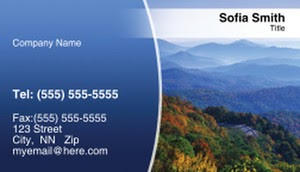 scenery business card template