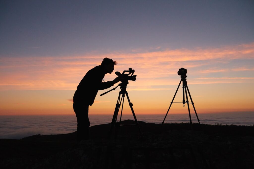 Photographer with natural beauty