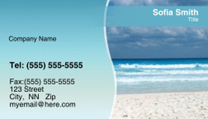 Easy-to-Read Scenery Business Cards Template: 322135