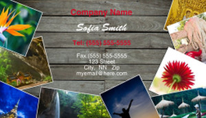Photo Collage Business Card Design