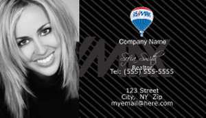 A woman smiling on business card