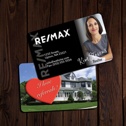 Remax Business Cards Credit Card Size