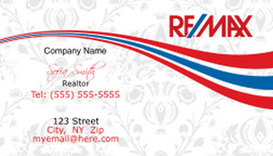Remax red and blue Luxury Business Cards