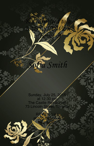 Button to customize design Elegant Greeting Cards Invitation Template: 344534