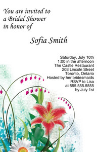 Floral Greeting Cards Invitation Template: 332079