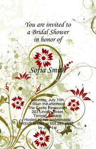 Floral Greeting Cards Invitation Template: 332080