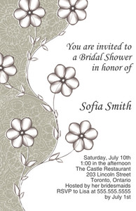 Button to customize design Floral Greeting Cards Invitation Template: 332081