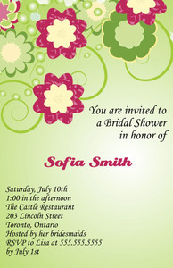 Floral Greeting Cards Invitation Template: 332091