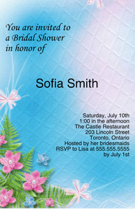 Floral Greeting Cards Invitation Template: 332096
