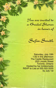 Patterns-Borders Greeting Cards Invitation Template: 332333