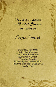 Vintage-Antique Greeting Cards Invitation Template: 332351