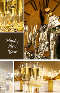 New Year Greeting Cards Invitation Template: 326092