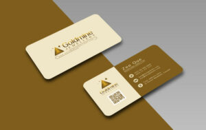 shaped business cards Rounded Corner Business Card Design
