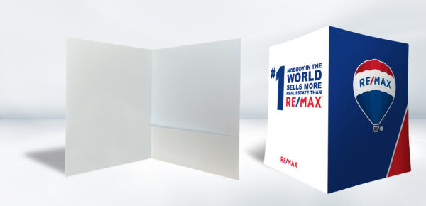 DOUBLE 1Flap 01 Real Estate Remax Folder Blue and White - Pocket Folders