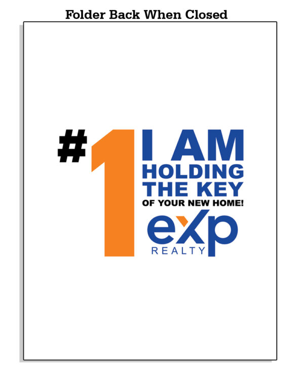 Amazon EXP BackWhenClosed Template 01 EXP Folder with Orange and Blue Colors - EXP Pocket Folders
