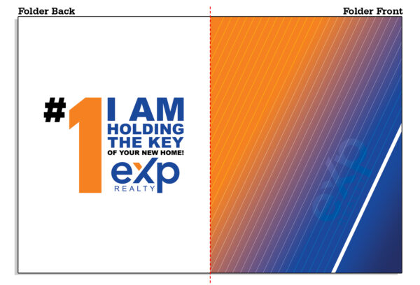 Amazon EXP Open Template 01 EXP Folder with Orange and Blue Colors - EXP Pocket Folders