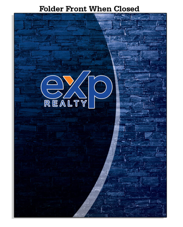 Amazon EXP FrontWhenClosed Template 05 EXP Folder Blue and Black background Color - EXP Pocket Folders