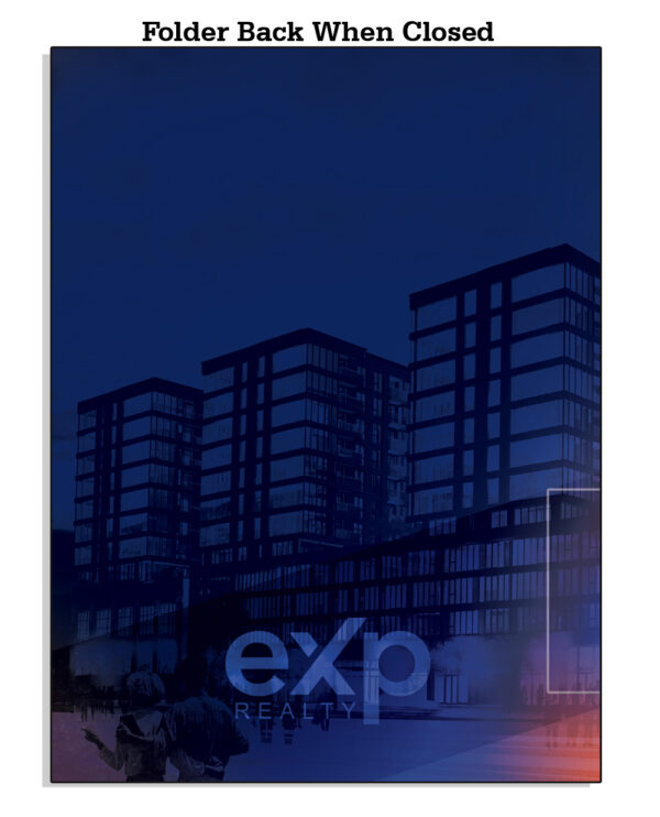 Amazon EXP BackWhenClosed Template 04 EXP Folder Black with Building Background - EXP Pocket Folders